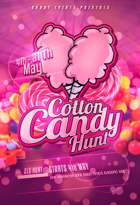 Cotton Candy Hunt Poster